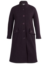Chesca Wing Pocket Detailed Coat Grape