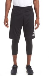 Adidas Men's 'Crazylight' 2 In 1 Running Tights And Shorts