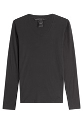 Marc By Marc Jacobs Long Sleeved Cotton Top Black