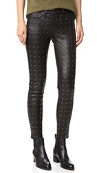 Rag And Bone The Hyde Leather Pants Black Leather Stud