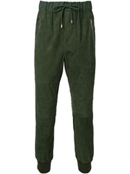 Umit Benan Cuffed Tapered Trousers Green