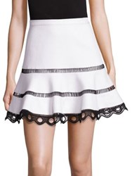 Alexis Ediely Flounce Skirt With Contrast Trim White
