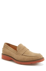 1901 'Spencer' Penny Loafer Men Sand Suede