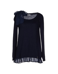 Lucky Lu Sweaters Dark Blue