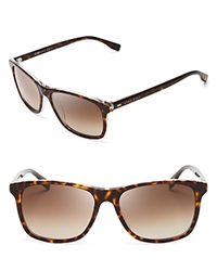 Hugo Boss Wayfarer Sunglasses Havana Brown Gradient