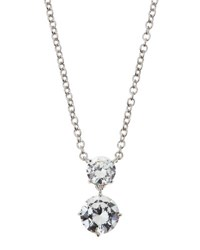 Fantasia Double Round Cut Cz Pendant Necklace