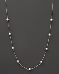 Bloomingdale's 14K White Gold Akoya Cultured Pearl Necklace 18