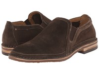 Trask Blaine Perf Gray African Kudu Suede Men's Slip On Shoes Brown