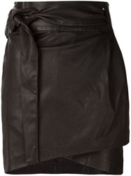 Iro 'Dallas' Leather Skirt Black