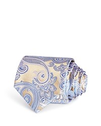 Bloomingdale's The Men's Store At Large Paisley Classic Tie Gold Blue