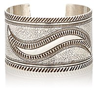 Mahnaz Collection Vintage Women's Sterling Silver Wide Band Cuff No Color