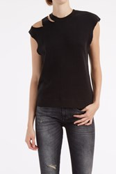 R 13 R13 Women S Ripped Neck Jumper Boutique1 Black
