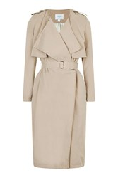 Midi Length Trench By Jovonna Beige