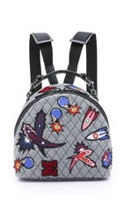 Msgm Quilted Rocket Backpack Heather Grey