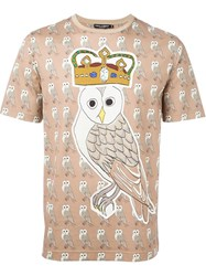 Dolce And Gabbana Owl Print T Shirt Nude And Neutrals