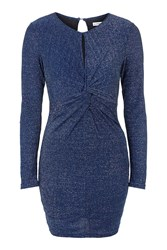 Twist Front Bodycon Dress By Glamorous Petites Navy Blue