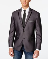 Alfani Red Men's Charcoal Slim Fit Evening Jacket Only At Macy's