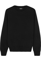 A.P.C. Atelier De Production Et De Creation Maud Merino Wool And Silk Blend Sweater Black
