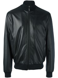 Dirk Bikkembergs Zipped Leather Jacket Black