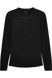 Raoul Nicolai Bead Embellished Stretch Jersey Top