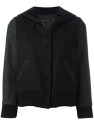Marc Jacobs Sailor Lapel Varsity Jacket Black