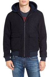 Original Penguin Men's Bomber Jacket With Faux Fur Lined Hood