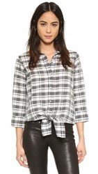 Current Elliott The Western Tie Front Top Collier Plaid