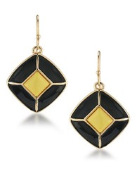 1St And Gorgeous Colorblocked Diamond Shaped Drop Earrings Gold