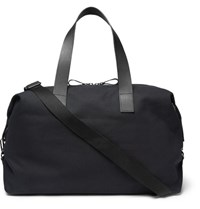 Cos Leather Trimmed Canvas Holdall Navy