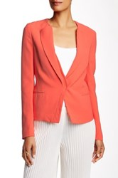 Ports 1961 Cady Silk Single Breasted Jacket Orange
