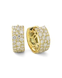 Ippolita 18K Glamazon Stardust Small Diamond Hoop Earrings Yellow