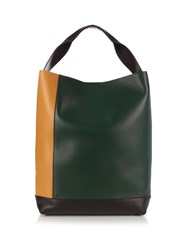 Marni Multicoloured Leather Tote Green Multi