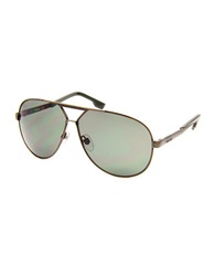 Diesel 61Mm Aviator Sunglasses Bronze Green