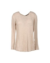 Theyskens' Theory Long Sleeve Sweaters Beige