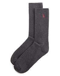 Ralph Lauren Ribbed Crew Socks Heather Charcoal