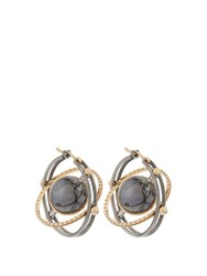 Elie Top Diamond Silver And Yellow Gold Mir Earrings