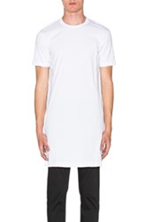 Comme Des Garcons Shirt Asymmetrical Jersey Tee In White