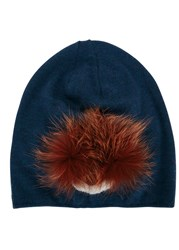 Fendi Dark Blue Monster Wool Hat