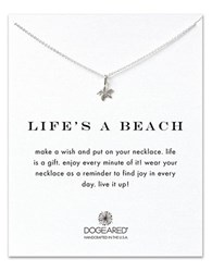 Dogeared Reminders Lifes A Beach Sterling Silver Pendant Necklace