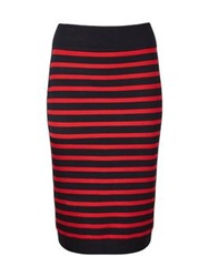 Marc By Marc Jacobs Jacquelyn Stripe Knit Skirt Black Red
