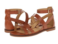 Enzo Angiolini Jeat Cognac Leather Women's Sandals Brown