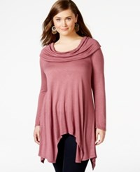 American Rag Plus Size Long Sleeve Cowl Neck Top Only At Macy's Renn Rose