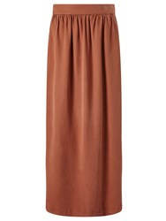 Selected Femme Vilo Maxi Skirt Rustic Brown