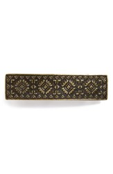 Berry Embossed Metal Barrette Metallic