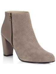 Jacques Vert Snake Effect Ankle Boot Grey