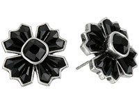 Marc Jacobs Jet Night Cross Studs Earrings Jet Antique Silver Earring