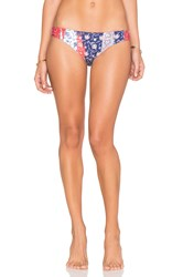 Seafolly Out Of The Blue Bikini Bottom Navy