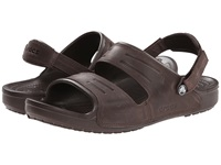 Crocs Yukon Two Strap Sandal Mahogany Mahogany Men's Sandals Gray