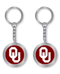 Aminco Oklahoma Sooners Spinning Keychain Silver Team Color