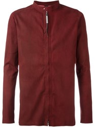 Isaac Sellam Experience Zip Front Lambskin Jacket Red